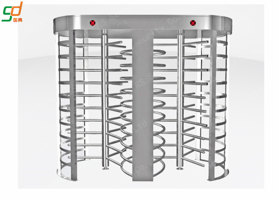 Half Height Single Turnstyle Pedestrian Barrier Gate Remote Control 304 Stainless Steel