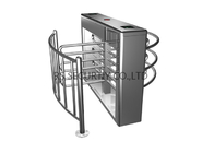Road Safety Half Height Turnstile Access Control System Full Automatic With Rfid Reader