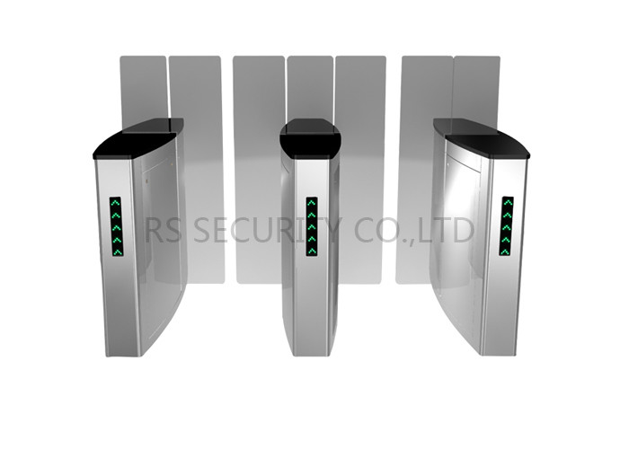 Intelligent Class Turnstile Security Systems Flap Gate Sliding Turnstiles