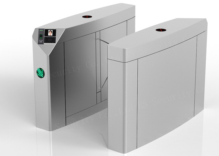 Biometric Waist Height Flap Barrier Gate Turnstiles With Face Recognition Machine