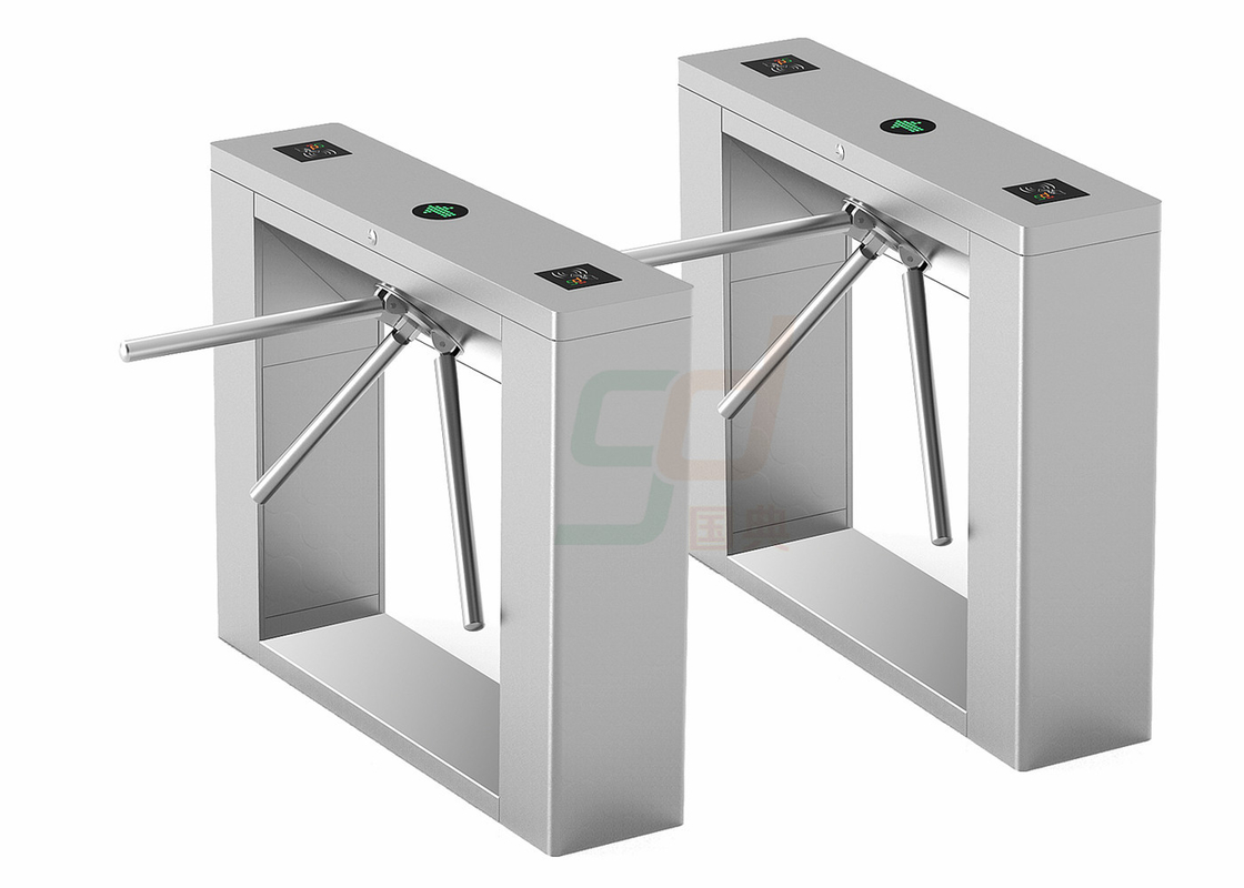 316 Stainless Steel Waist Height Turnstiles Bridge Vertical Tripod Turnstile