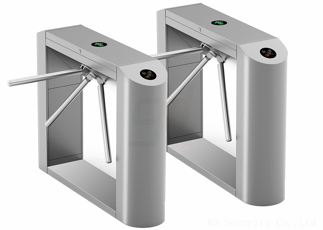 Drop Arm Barrier Waist Height Turnstile ESD Fully Automatic Tripod Turnstiles