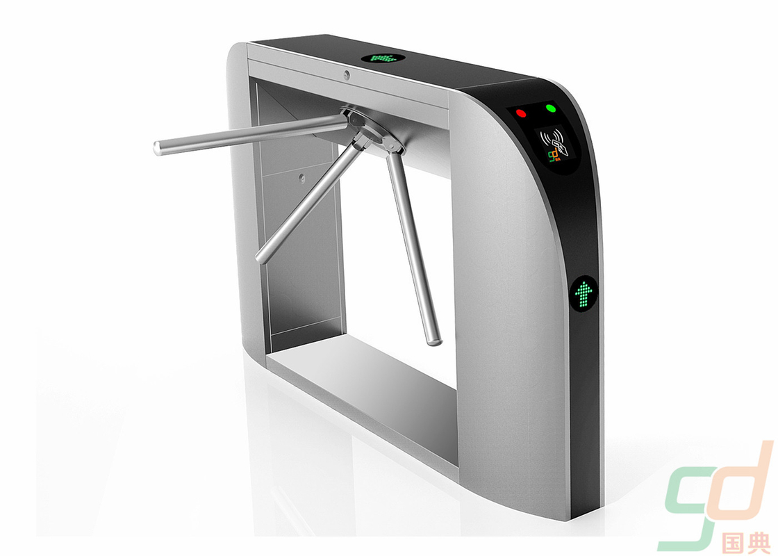 Bi-directional Ticket Tripod Turnstile System Automatic Waist Height Turnstiles