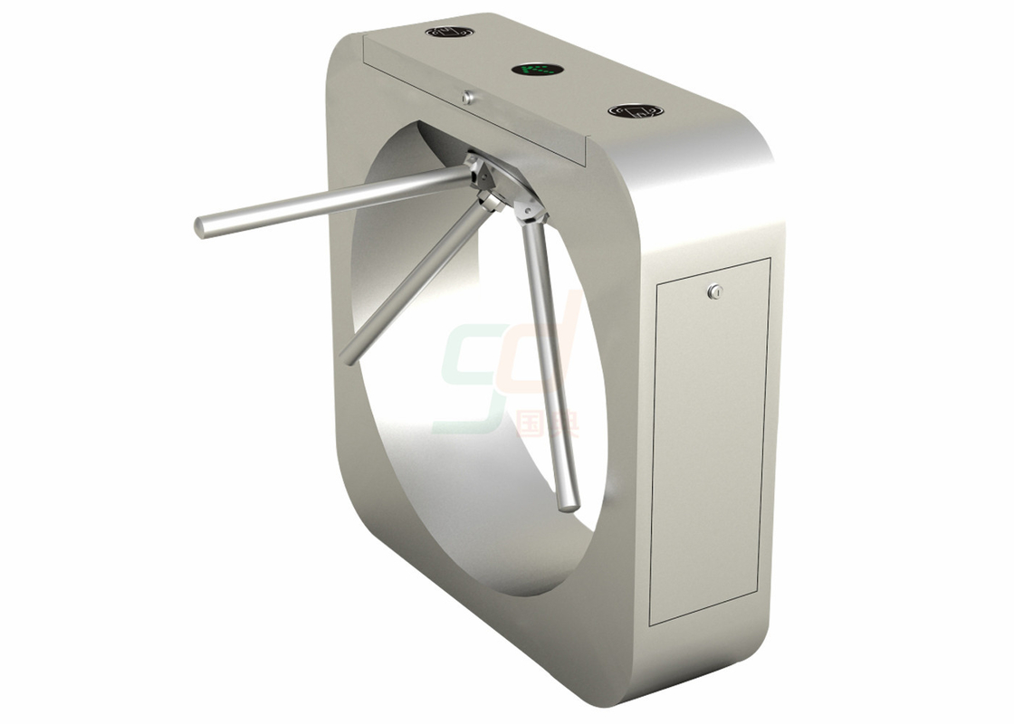 Automated CE Approved Tripod Turnstile Gate , Rs485 Connection Football Turnstiles