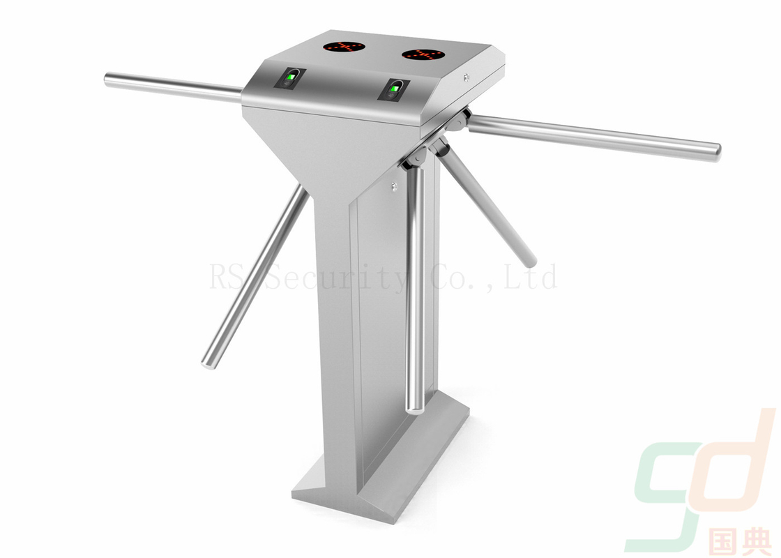 Double Tripod Turnstile Security Systems, Card Reader Turnstiles