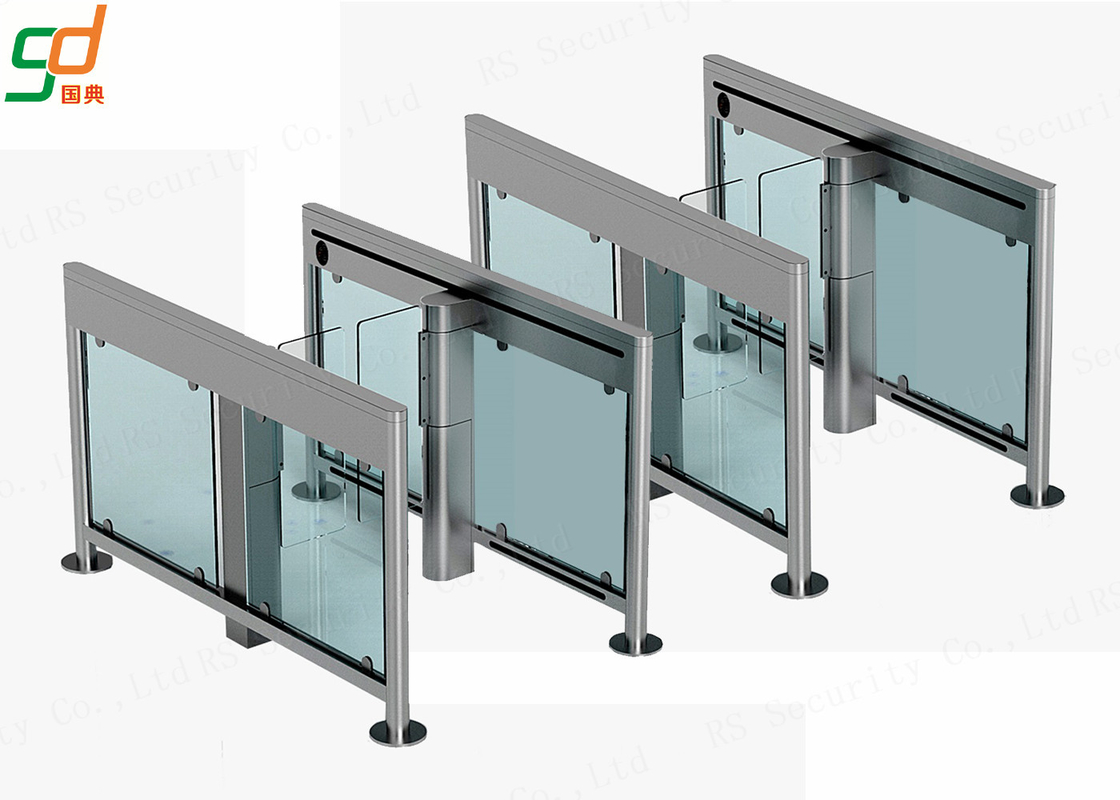 SS304 Automatic Turnstiles ,  Intelligent Supermarket Swing Barrier
