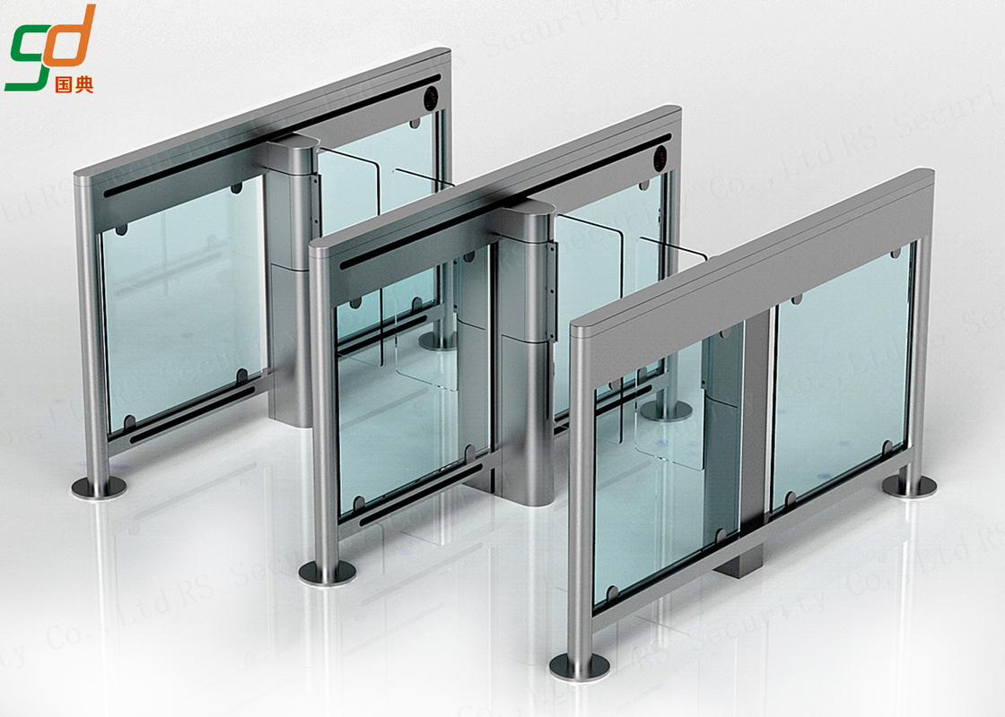 Stainless Steel Swing Barrier Gate Swing Turnstile For Entrance Access Control