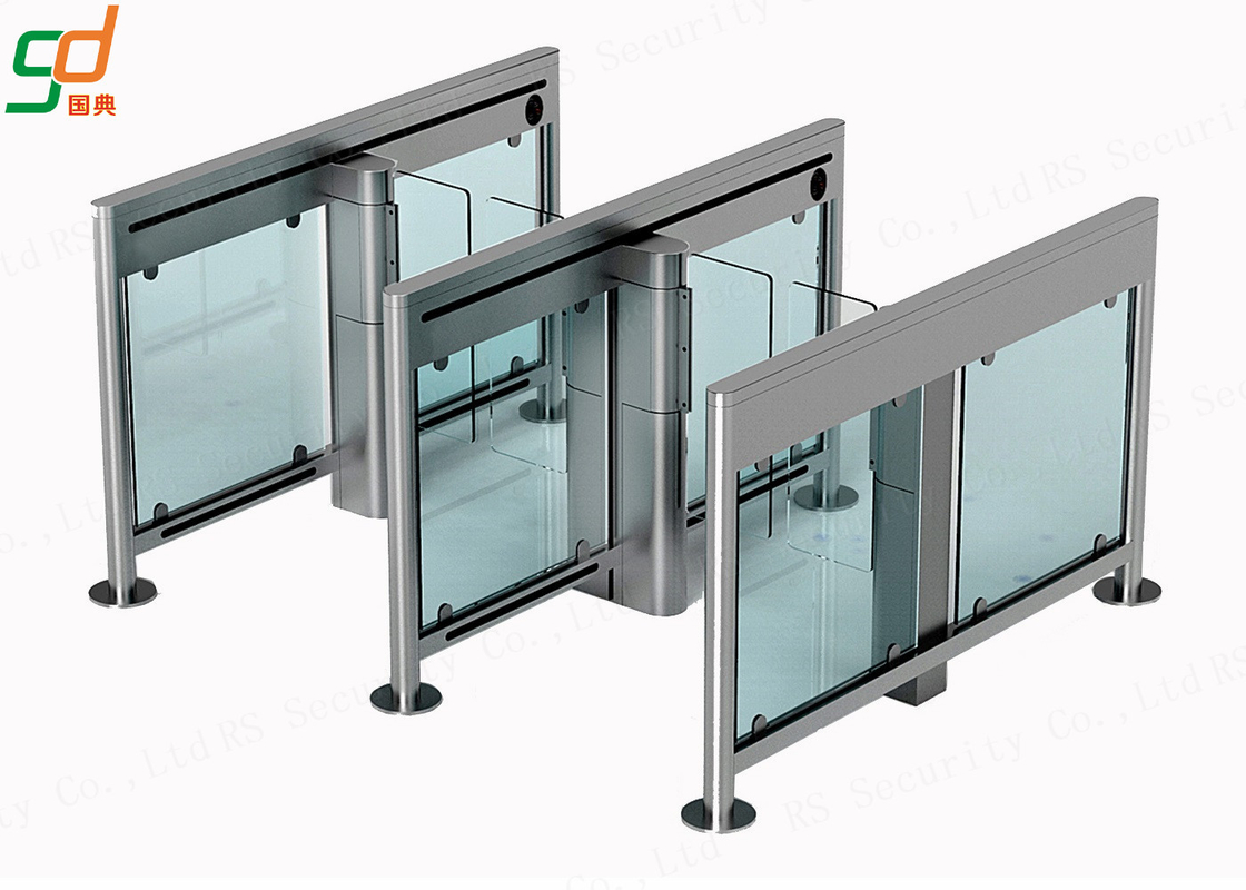Access Swing Barrier Gate,2.00 Thickness 304 Stainless Steel Glass Turnstile