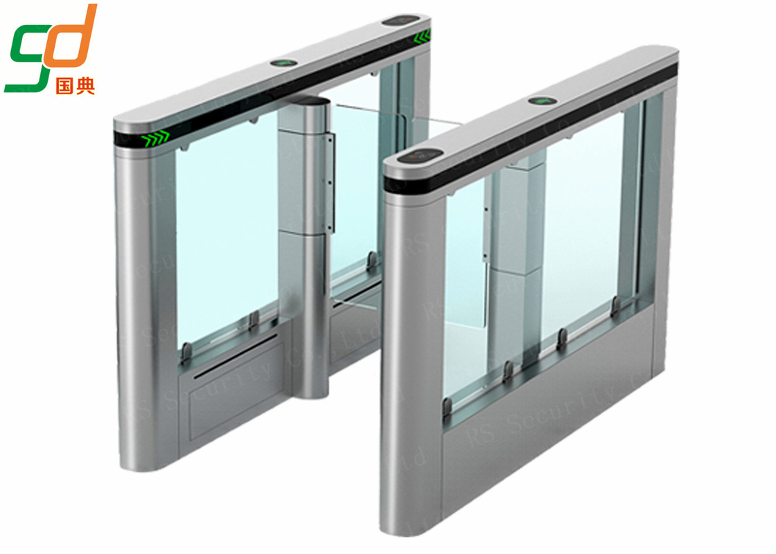 304 Stainless Steel Automatic Turnstiles Glass Wing Swing Gates Systems