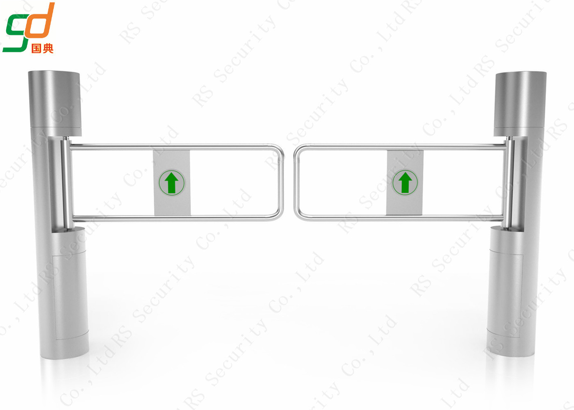 Stainless Steel Economic Automatic Swing Gate Barrier With Rfid Card Reader