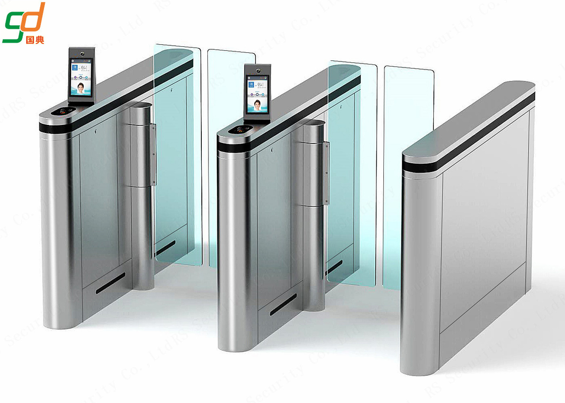 Automatic Supermarket Swing Gate,Face recognition Glass Arm Turnstile Systems