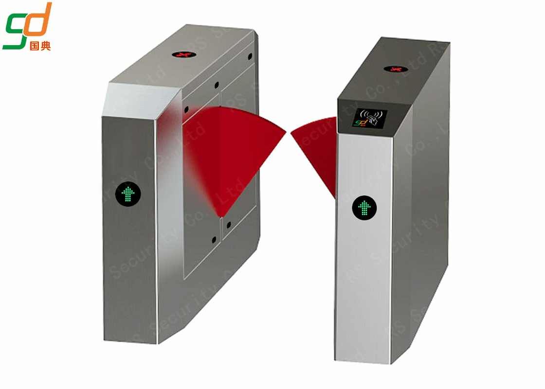 Bus Station Entrance IR Sensor Flap Barrier Gate Pedestrian Access
