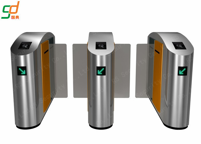 Stainless Steel Speed Gates, Pedestrian Airport Turnstile Access Control