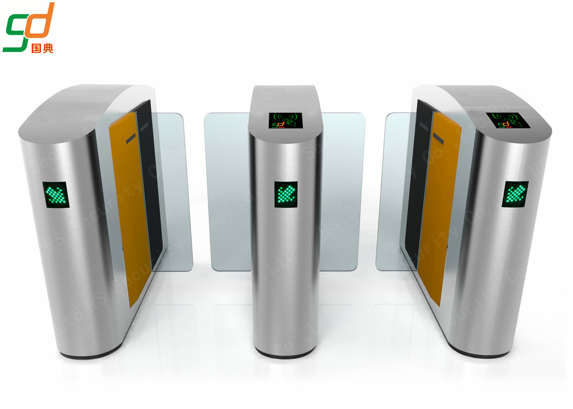 Optical Security Speed Gates , Card Reader Glass Fastlane Access Control Turnstiles