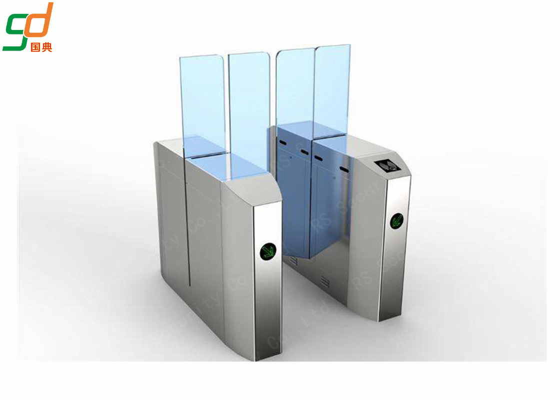 Automatic IR Sensor Flap Barrier Gate , Optical Turnstile Gate Access Control System
