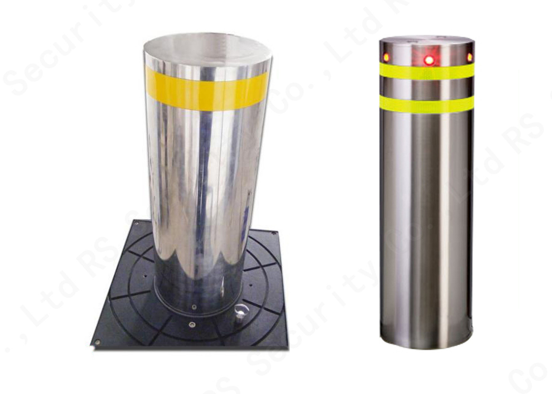 Access Control System Hydraulic Stainless Steel Bollards Automatic Road Rising Bollard