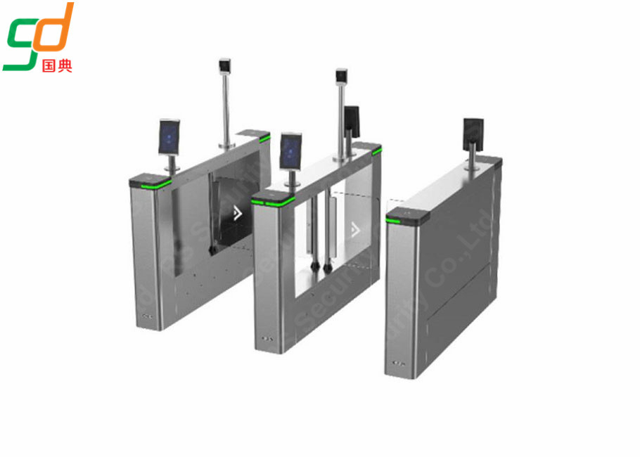 চীন IR Sensor Multichannel Silvery Swing Gate Barrier For Community কারখানা