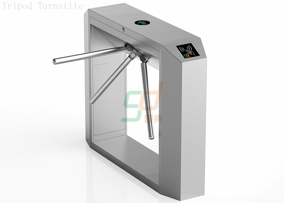 RFID Turnstile Security Systems, Barcode Reader Tripod Turnstiles Gate