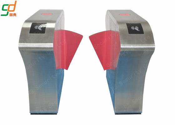 High Security Low Noise Flap Barrier Gate Metro Entrance Turnstile