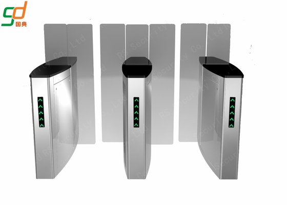 Full Height Speed Gates Sliding Turnstile Optical, RFID Access Control Turnstyles