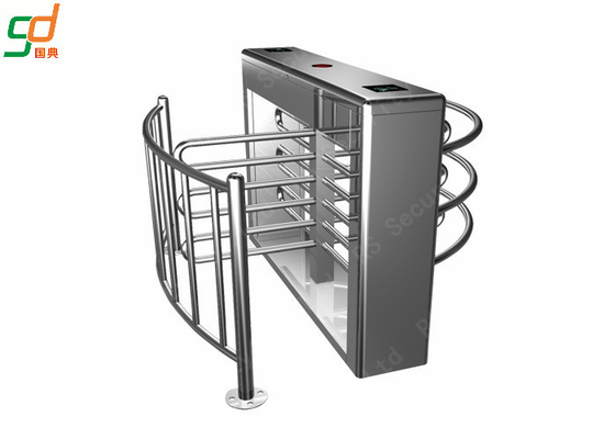 Security Pedestian Full Height Turnstile With LED Count Display Function