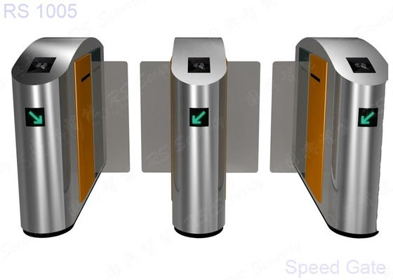 RFID Reader Optical Turnstile Security Systems High Speed Barrier Sliding Gate